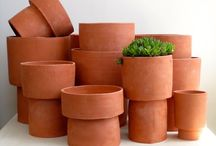 terracotta / Anything made from terracotta.