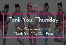 Tank You! Thursday Giveaways / At You! Lingerie, we're very thankful for all of our customers, fans & followers. To show how appreciative we are, we thought of a simple way to thank all of you for your support. Tank You Thursdays! (Yes, it's not a typo...Every other Thursday, we'll gift a lucky customer (or two) with a little token of appreciation - one of You! Lingerie tanks and something from another wonderful mommy or baby related business.