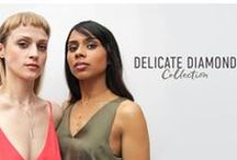 The Diamond Collection / A wonderful collection of beautiful necklaces, available in either sterling silver or gold plated sterling silver, all adorned with a single diamond. These necklaces will be instantly loved and treasured forever.