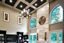 Room designs with high ceiling