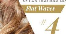 2017 Spring Hair Trend: Flat Waves / #FlatWaves #2017SpringHairTrend #HairTrends #Fashion #Style #HairStyle #Spring2017