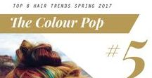 2017 Spring Hair Trend: The Colour Pop / #ColourPop #2017SpringHairTrend #HairTrends #Fashion #Style #Hair