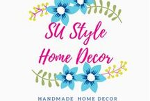 Stampin' Up! Style Home Decor / Stampin' Up! style home decor creations.  Table decor, holiday decor, framed art, mixed media,