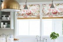 Window Treatments / Curtains, drapes, shades...fashion for the windows.