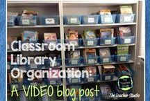 Classroom Libraries and Children's Literature / Great ideas to make your classroom library a wonderful place for students to savor books!  Organization, book ideas, reading strategies, just right books, book talks, book reports, bulletin boards, library design and more!