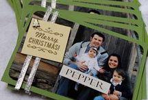 Christmas Photo Cards / Ideas for handmade Christmas photo cards.
