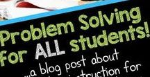 Problem Solving Lessons and Activities / Math problem solving ideas, activities, and lessons.  Tips for improving problem solving and using word problems in grade 3, grade 4, and grade 5.
