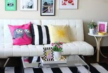 For the Home / home decor, decorating, design, home interior, pattern, furniture, lighting, fabric / by Diana Dellos