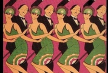 Ads - Graphics & Deco / Art Deco - a design style which began in France & became globally popular during the 1920's, 1930's & 1940's. / by Sharon Watson