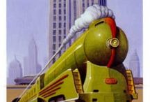 Ads - Trains, Streetcars, & Trolley's / by Sharon Watson