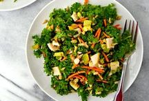 Easy Salad Recipes / Big bowls of beautiful greens and all their yummy toppings.