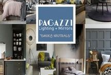 PAGAZZI Must Haves... Smoky & Neutral Interiors / This trend is all about refined class. Neutrals are often overlooked when people undertake interior redesign projects. With just a touch of smokiness and a few well-placed accent colours a neutral colour scheme can ooze sophistication and contemporary glamour. Forgo cream, white and beige for smokier tones of grey, brown and stone. Accent with plush suites fabricated in velvet or herringbone. Spice things up further with furniture - think rich tones of purple or blue to bring the trend to life.