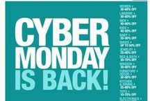 Cyber Monday on the Web / Inspirational web ideas for Cyber Monday! Find out how we can help you with your online marketing at http://www.freshrelevance.com