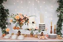 *cake & sweet table florals*