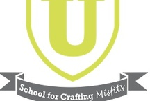 DIY U: School for Crafting Misfits / Want to learn a new craft, but not sure where to start? Have a few craft fails broken your spirit? DIY U is a bi-annual blog series that aims to inspire to find new ways of expressing your creativity through education, instruction, and community support. Tutorials & Tips to get your started here on Pinterest- Next session starts in September. (Join us it's totally Free!!)