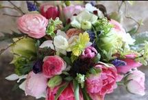 Seasonal April flower delivery bouquets and wedding flowers - all British flowers / Strictly seasonal English country flowers from Common Farm Flowers near Bruton in Somerset