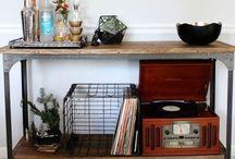 // Vinyl Player Storage Ideas
