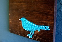 ~ String Art~ / Hi! I'm Jessica from Oceanside Daydreams - Where the love of the ocean, decorating & crafts come together. Check out my site: http://oceansidedaydreams.com  / by Jessica Anderson
