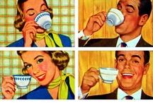 """Coffee time / """"Je déjeune moi-même dans une tasse favorite qui represente aussi une grande feuille de lotus. Dans la soucoupe un mandarin assis au bord d'un lac sur la surface duquel nagent quantité des ces feuilles et dans l'interieur de la tasse six grandes figures de femmes de celles qu'on nomme en Hollande les longues Elises... """" (Emanuele d'Azeglio, L'Aia, 21 gennaio 1843, alla madre Costanza)  http://www.palazzomadamatorino.it/crowdfunding/"""