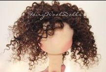 Doll Hair & Face How To / painting and stitching face designs, DIY hair styles