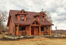 Our 3 Bedroom Log Home Model / Photos of our three bedroom, three bath log home. / by Branson Cedars Resort