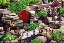 Fairy Gardens / Ideas for making fairy,hobbit and goblin gardens.