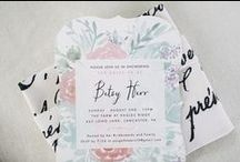 Pretty Stationery / Bridal Shower and Bachelorette Party Invitations