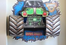 Andrew's Monster Truck Bash / 3rd birthday party ideas / by Latahra Smith