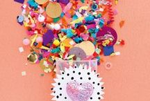 Confetti / trend alert! It's time to embrace scattered patterns and rainbow palettes