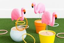 Flamingos / The best flamingo DIYs, prints, patterns and products.