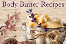 BODY BUTTERS / Body Butter recipes.  Learn how to make homemade body butter, whipped body butter, healing salves and balms.