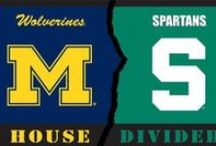 Michigan vs. Mich. State / Whatever side you are on, these are great colleges in Michigan!!!! / by Esther VandeBunte