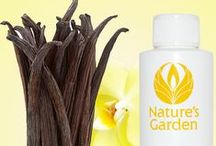 Vanilla Scents - Fragrances / Fragrance oils from the world famous, Natures Garden. Fabulous vanilla scents.  These fragrance oils are typically used to make candles, soap, and cosmetics.
