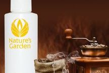 Coffee Scents - Fragrances / Fabulous Coffee Fragrances from the world renowned Natures Garden Fragrance Oils. These scents are typically used to make candles, soap, cosmetics, and bath and body products.