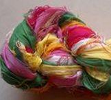 Sari Silk Ribbon Yarn For Making Handmade Jewelry | Fair Trade Craft Ribbons / Shop For Recycled Sari Silk Ribbon Yarn From India! These Fair Trade & Handmade Yarns Come In Mystical Colors Of Nature. Perfect Choice For Making Handmade Jewelry, As A Craft Ribbon, Crochet Yarn, Knitted Yarn, Macrame, Wrap Bracelet, Gift Wraps, Scrapbook Ribbon, etc. #mamtamotiyani #designsbymamta #handmadeyarns #sariribbons