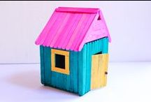 Popsicle Sticks Crafts / Crafts made with popsicle sticks / by Designs By Mamta