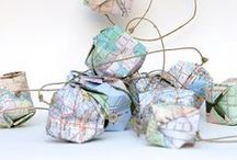 On The Map Inspiration / Use paper maps to make items for your home