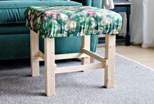 Footstool inspiration / Make your own footstool - upcycle ideas