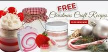 Christmas Craft Recipes / Free Christmas Craft Recipes from Natures Garden.  http://www.naturesgardencandles.com/free-christmas-craft-recipes