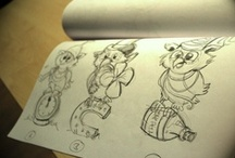 Sketches / Preliminary etchings of Wooga's most wanted.