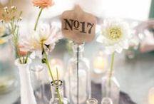 Centre de table / Fleurs et bougies ... deux éléments, milles variantes