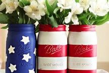CELEBRATE: Patriotic Stars & Stripes / Red, White, and Blue - decorations, DIY, food & crafts to help inspire your patriotic-themed, summertime celebrations