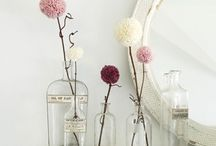 TREND: Pom poms! / Pom poms are being used in all sorts of ways right now. From crafts to gifts to home decor, pom poms are a fun addition to your project.
