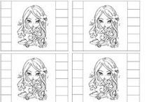 Doodles & Colouring / digital images for colouring and cricut/cameo cutting