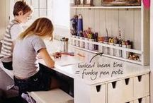 craft/small storage ideas / craft storage, small space ideas and furniture