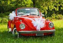 Autoschmuck zur Hochzeit / Schöne Ideen, wie ihr euer Hochzeitsauto schmücken könnt, egal ob ihr Just-Married-Dosen oder Antennenschleifen bevorzugt