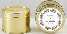 Mediterranean Wedding / Evermore London Custom Gold Tin Candle Wedding Favours. Offer your guests a beautiful keepsake on your big day with our range of customisable candle favours. Available in four unique designs to suit all styles of wedding and packaged in a modern gold slip lid tin.