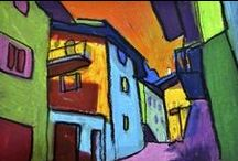 Oil Pastel Ideas / Inspiration for future oil pastel projects