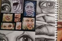 Artists {Sketch Books} / a pad or book of drawing paper for sketching on.