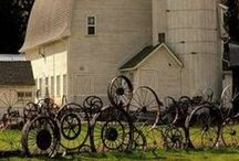 Architecture {Barns} / an agricultural building used for storage and as a covered workplace.
